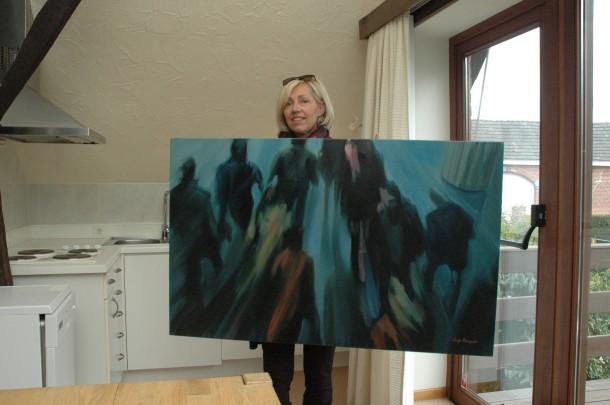 Schilderij Morning Rush van Inge Dompas